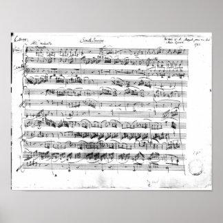 Premier de Sonate para el violín y el clavicordio Póster