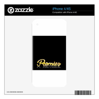 Premier Golden Letters Handwriting Skin For iPhone 4