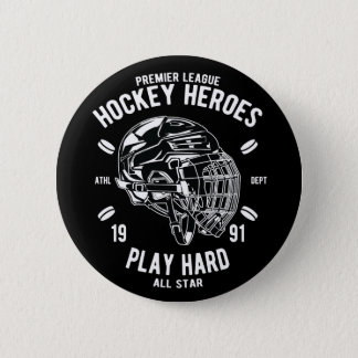 Premier League Hockey Heroes Play Hard All Star Pinback Button
