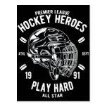Premier League Hockey Heroes Play Hard All Star Postcard
