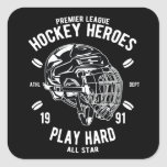 Premier League Hockey Heroes Play Hard All Star Square Sticker