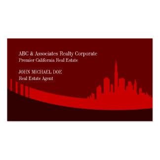 Premier Real Estate Red Custom Business Cards