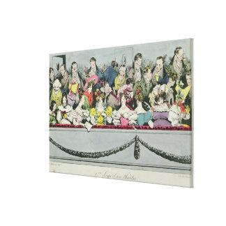 Premiere Loge d'un theatre Gallery Wrap Canvas