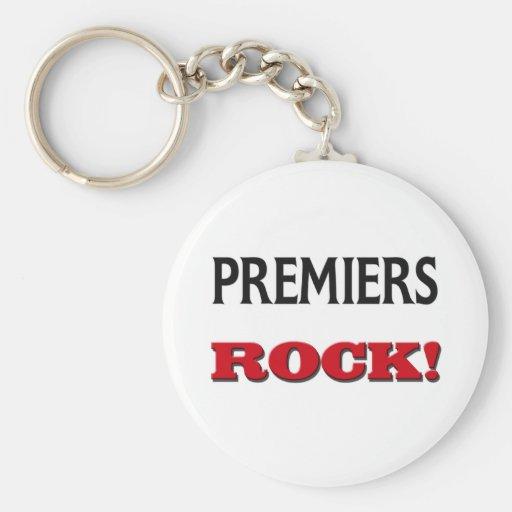 Premiers Rock Basic Round Button Keychain