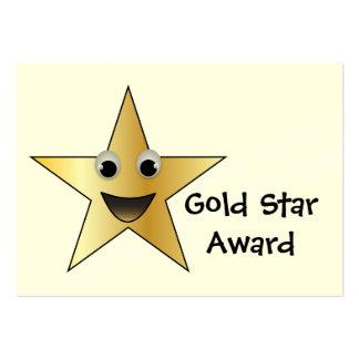 Premio al éxito de la estrella del oro para los tarjetas de visita grandes