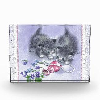 Premio antiguo de las perlas de los gatitos del vi