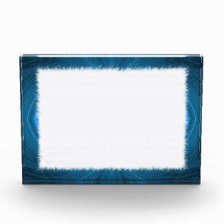 Premio azul del fondo de la frontera del fractal