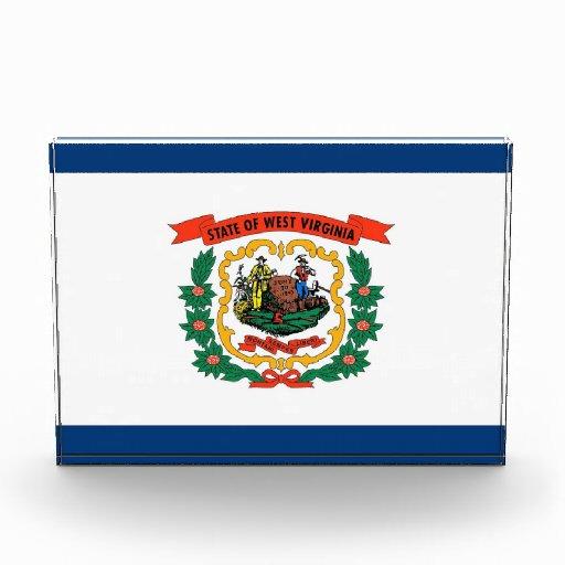 Premio con la bandera de Virginia Occidental, los