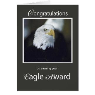 Premio de 4101 Eagle, enhorabuena Tarjeta De Felicitación