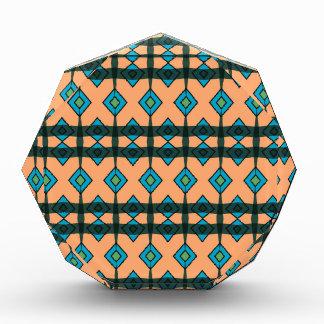 Premio de acrílico con diseño al sudoeste colorido