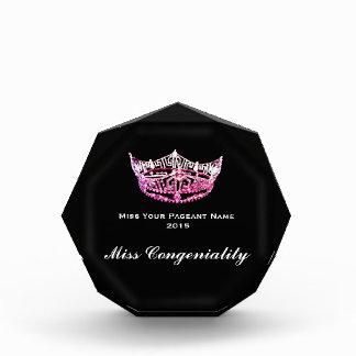 Premio de acrílico de la corona del estilo de