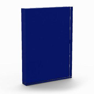 Premio de acrílico de los azules marinos