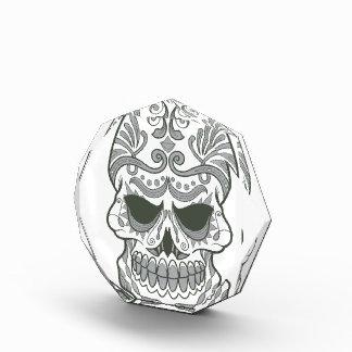Premio de acrílico del cráneo del octágono