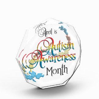 Premio de acrílico del mes de la conciencia del au