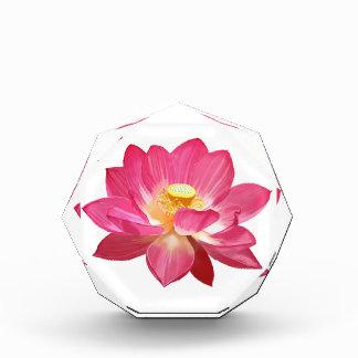 Premio de acrílico del octágono de la flor de Lotu
