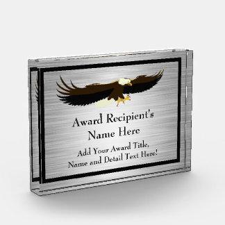 Premio de acrílico personalizado Eagle del vuelo