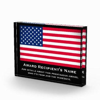 Premio de acrílico personalizado personalizado de