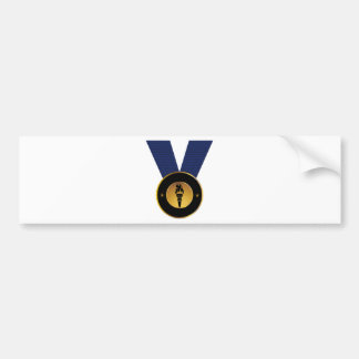 Premio de Blue Ribbon de la medalla de oro de la Pegatina Para Coche