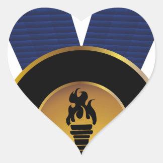 Premio de Blue Ribbon de la medalla de oro de la Pegatina En Forma De Corazón