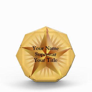 Premio de encargo del octágono de la estrella del
