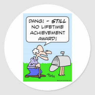 premio de éxito de toda una vida etiquetas
