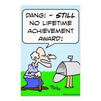 premio de éxito de toda una vida papelería personalizada
