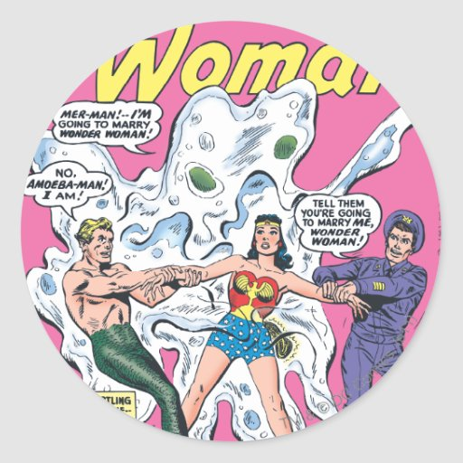 Premio de la batalla de la Mujer Maravilla Pegatina Redonda