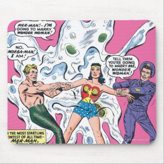 Premio de la batalla de la Mujer Maravilla Tapetes De Raton