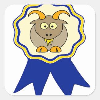 Premio de la CABRA Calcomanías Cuadradass Personalizadas