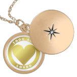 Premio de oro del corazón - cuando el atlas Shirke Pendientes