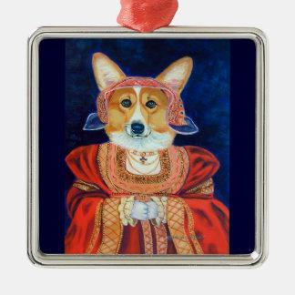 Premio del cuadrado del ornamento del Corgi Galés  Ornamentos De Reyes Magos