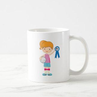 Premio del jugador de voleibol de los chicas tazas de café