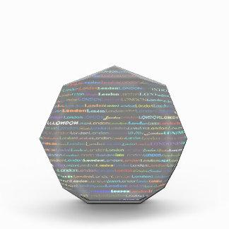 Premio del octágono del diseño I del texto de Lond