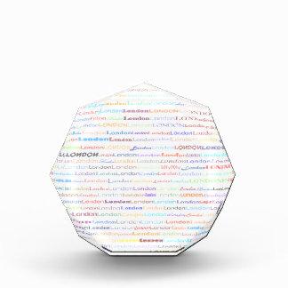 Premio del octágono del diseño II del texto de Lon