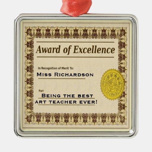 Premio del profesor del ornamento del navidad de ornamente de reyes