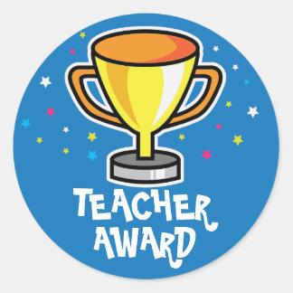 Premio del profesor etiqueta redonda