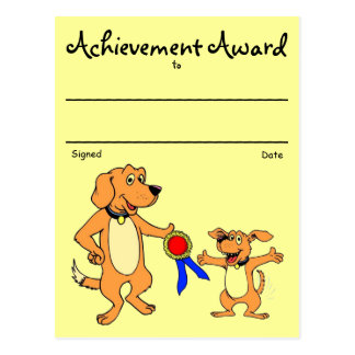 Premio del reconocimiento postales