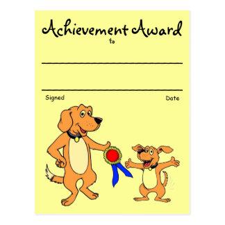 Premio del reconocimiento tarjetas postales