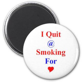 Premio del regalo para la parada o fumar abandonad imán redondo 5 cm