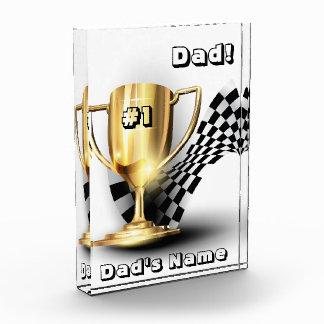 Premio del trofeo del oro del día de padre del pap