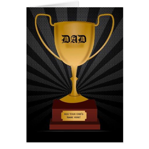 Premio del trofeo del papá, tarjeta del día de pad