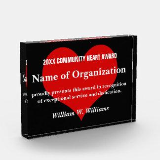 Premio del voluntario del corazón de la comunidad