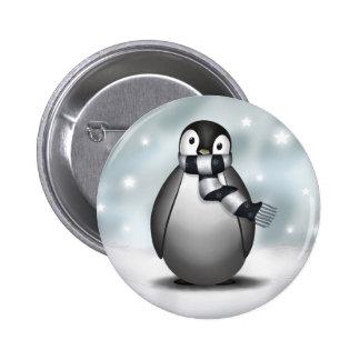 Premio Emmy el pingüino de emperador - botón Pin Redondo De 2 Pulgadas