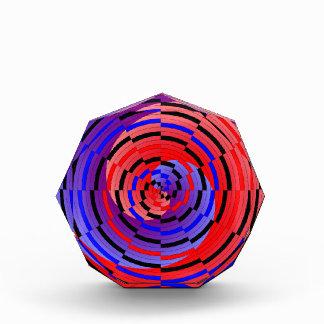 Premio espiral contrario rojo y azul