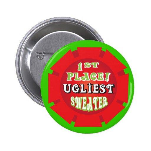 Premio feo del Pin del suéter del navidad
