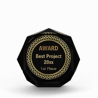 Premio gráfico del oro de Personalizable