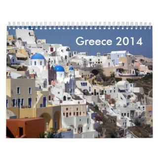 PREMIO Grecia 2014 de ZAZZLE Calendario De Pared