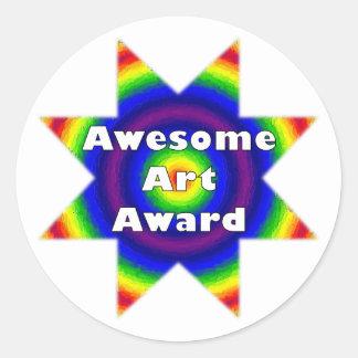 Premio impresionante del arte pegatinas redondas