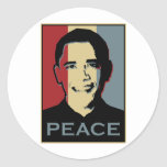 Premio Nobel de la Paz de Obama Pegatinas Redondas