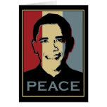 Premio Nobel de la Paz de Obama Tarjeton